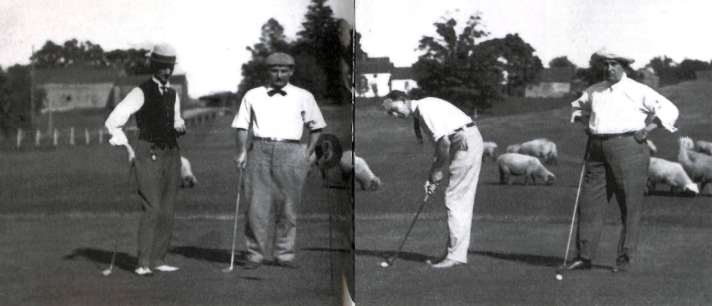 The Founding of Washtenaw Golf Club Golfers with sheep in the background