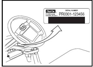 Club Car serial number location  Club Car parts & accessories
