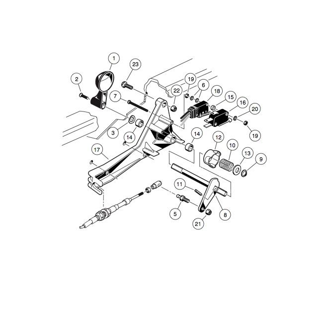 club car golf cart shifter parts diagram