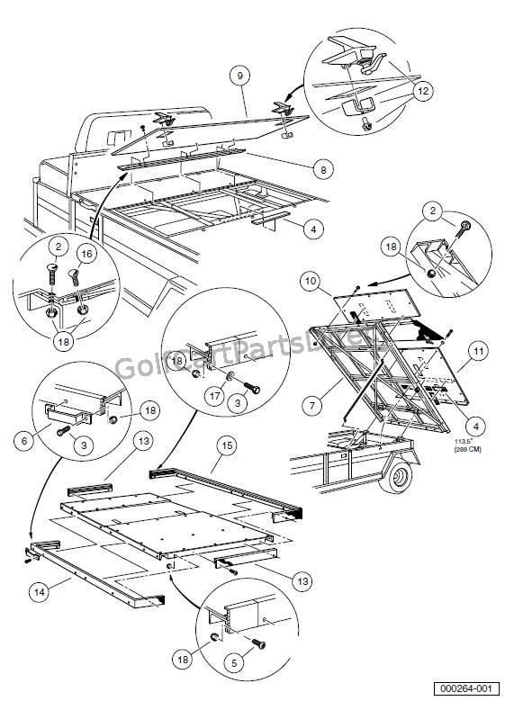 club car carryall parts diagram