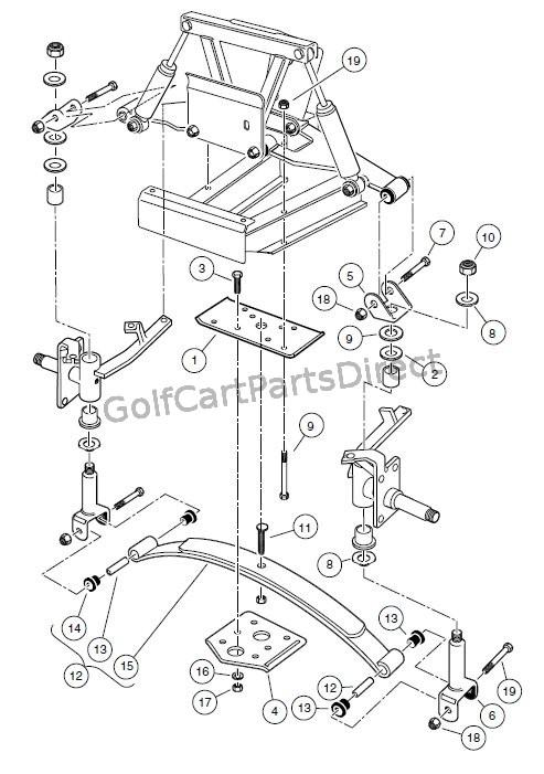 club car golf cart front suspension diagram