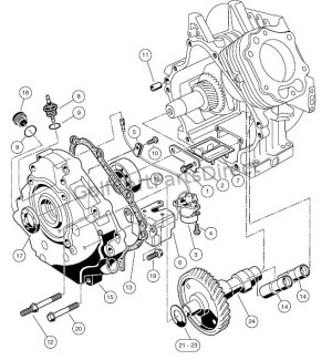 ENGINE  AS11 FE350 ENGINE WITHOUT ACR, CRANKCASE, CAMSHAFT, AND OIL SENSOR  GolfCartPartsDirect