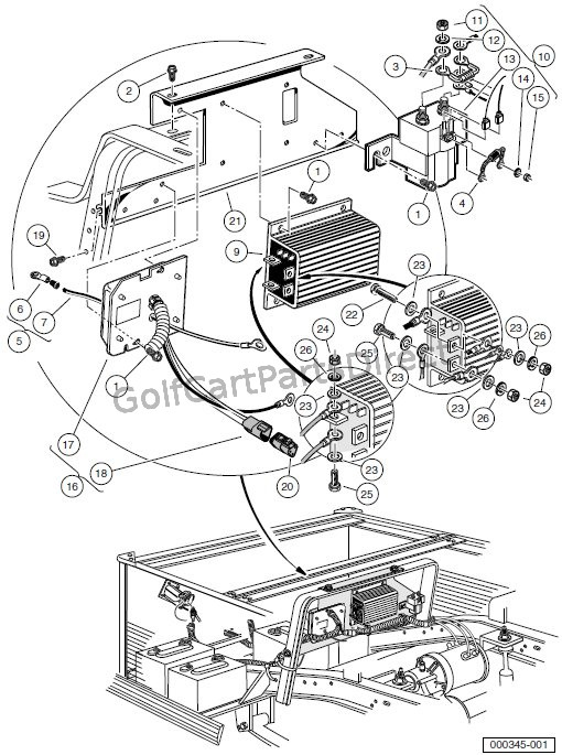 power drive 2 club car charger wiring diagram