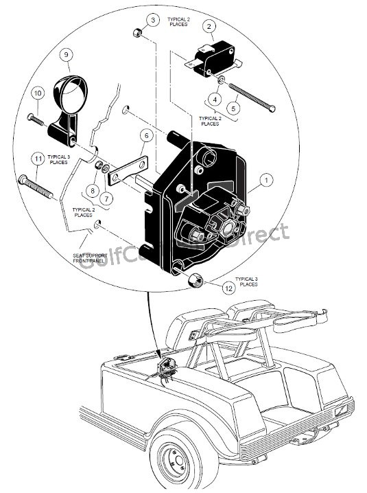 Golf Cart Battery Charger Wiring Diagram 1998 1999 Club Car Ds Gas Or Electric Golfcartpartsdirect
