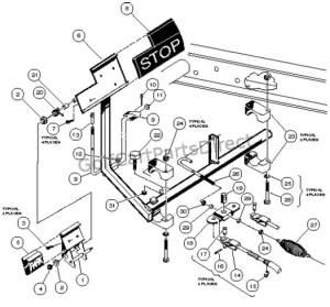 Brake Pedal & Cable Assembly  4 Wheel Braking  GolfCartPartsDirect