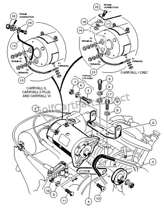 yamaha g1 golf cart starter generator wiring
