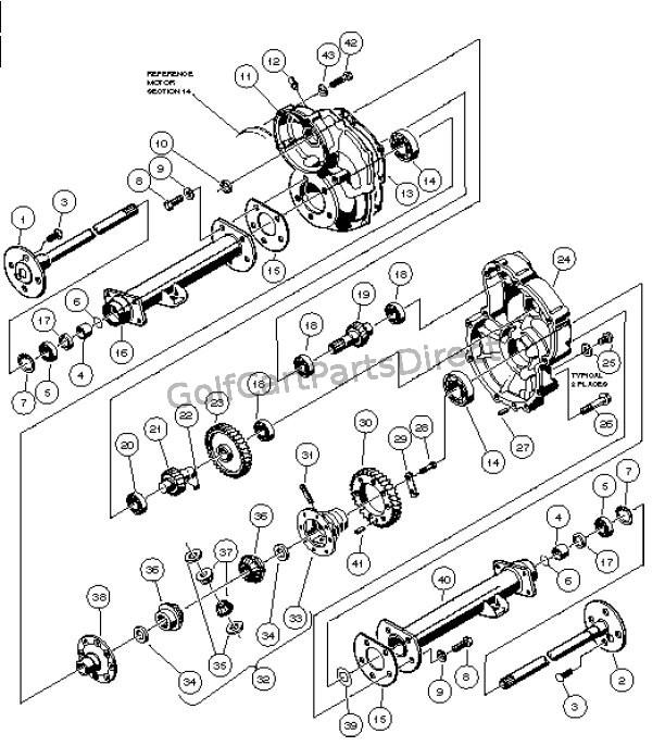 22e22R [DIAGRAM] Gas Club Car Transaxle Parts Diagram FULL