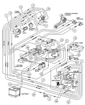 WIRING, GASOLINE VEHICLE  CARRYALL II PLUS