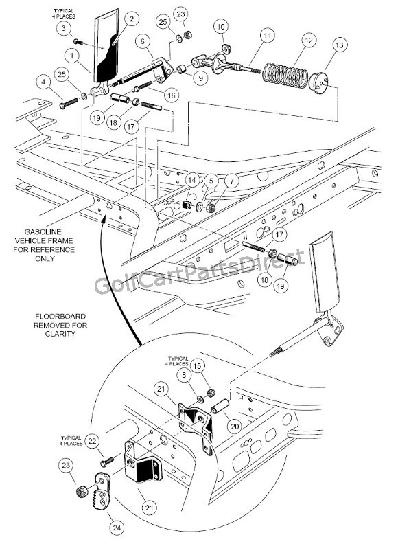 Golf Cart Battery Charger Wiring Diagram 1998 1999 Club Car Ds Gas Or Electric Club Car Parts