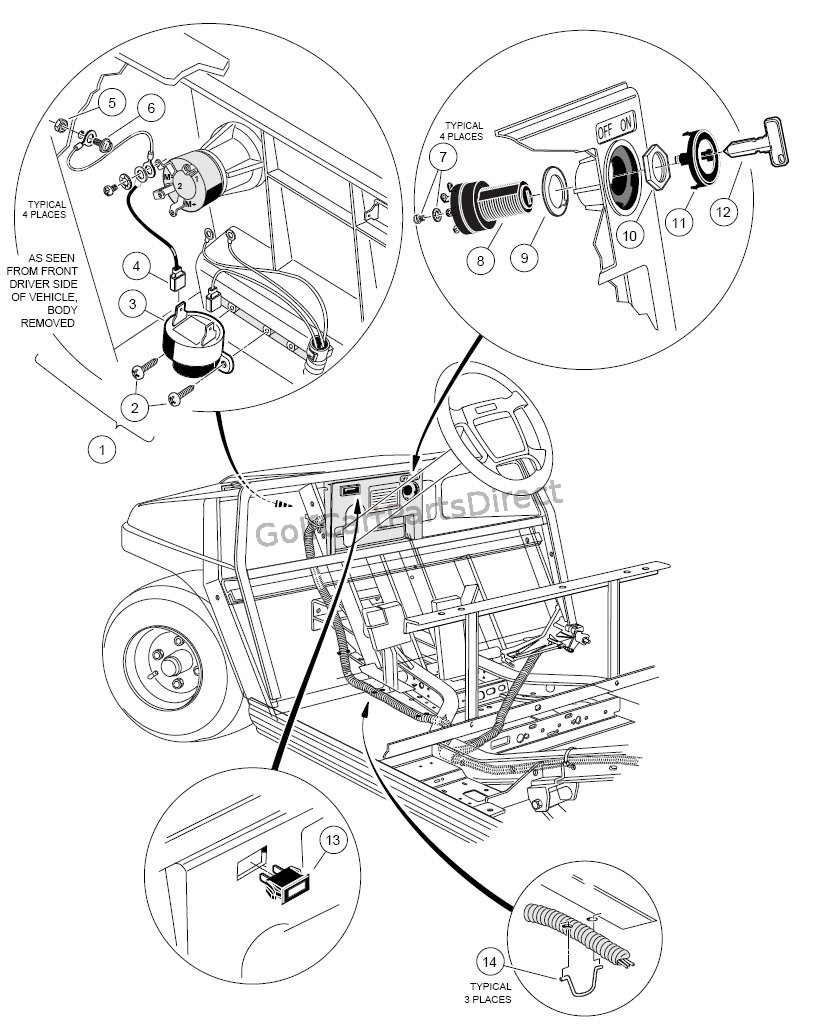 medium resolution of electrical components front body gas