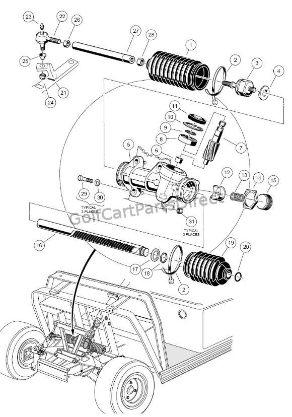 Wiring Diagram: 29 Club Car Parts Diagram Front End
