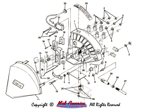 36v Electric Golf Cart Wiring Diagram 1984 1991 Club Car Ds Electric Club Car Parts Amp Accessories