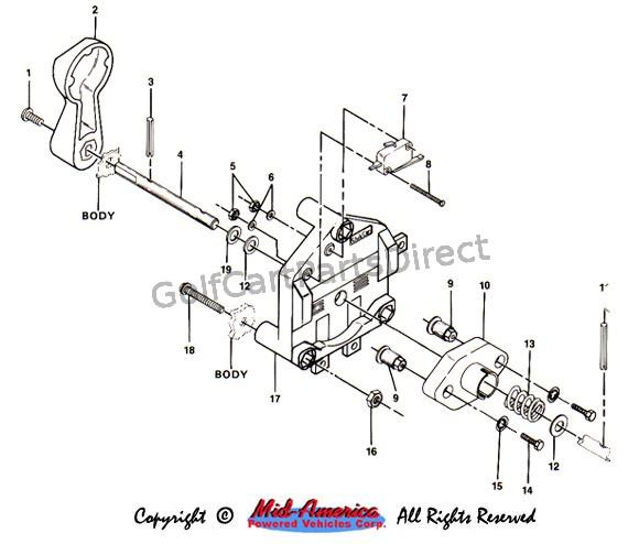 1987 Ezgo Marathon Wiring Diagram Schematic Forward And Reverse Switch Golfcartpartsdirect