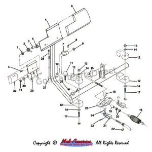 Brake Pedal and Assy  Club Car parts & accessories