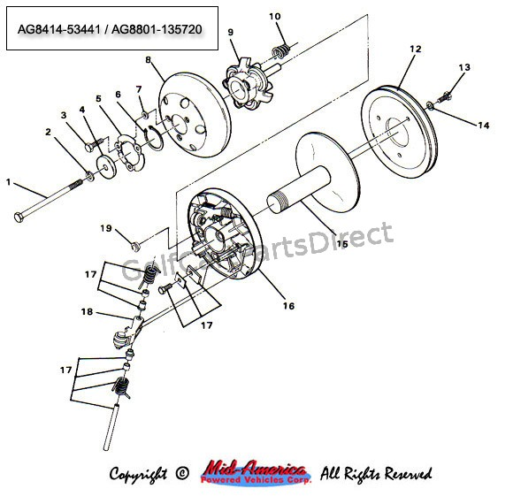 Ezgo Driven Clutch Diagram