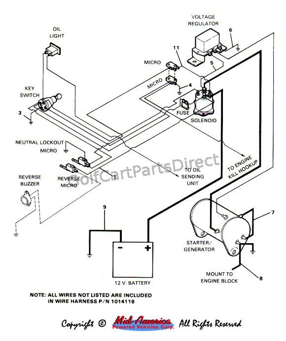 1984 ezgo gas wiring diagram