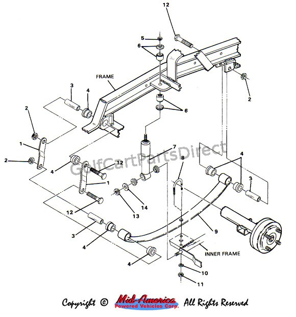 1990 Club Cart Diagram