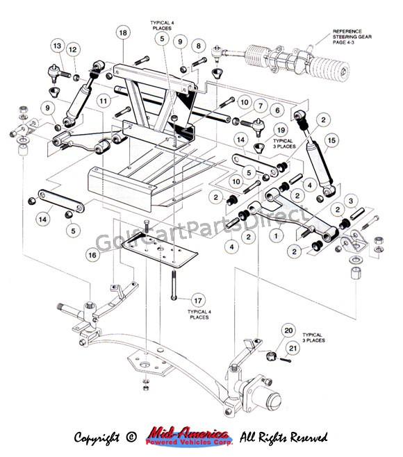 club car golf cart parts diagram 88