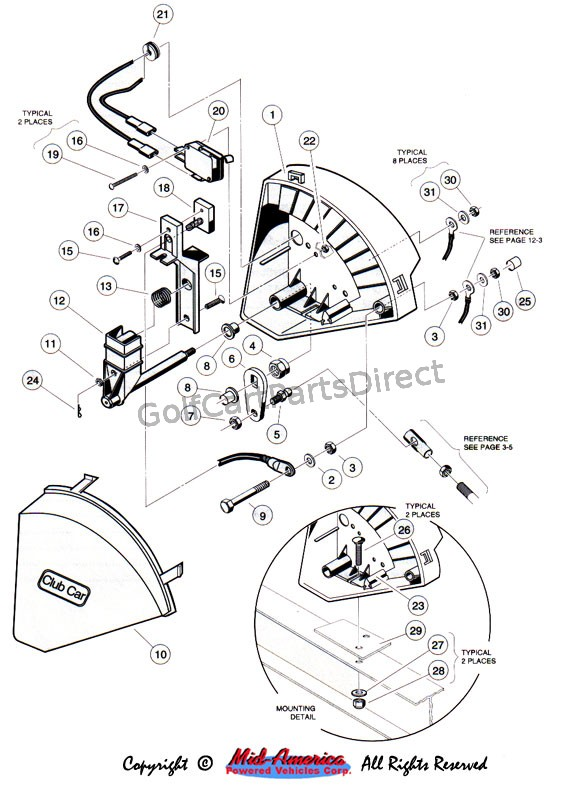Columbia Harley Davidson Golf Cart Wiring Diagram 1997 Club Car Gas Ds Or Electric Golfcartpartsdirect