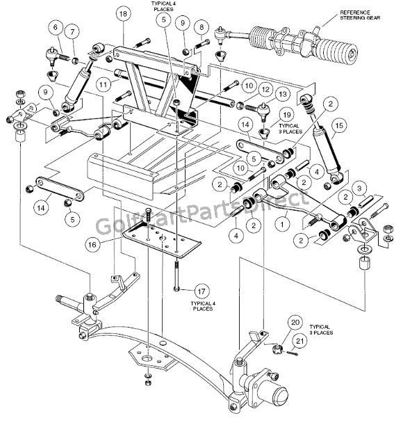 club car suspension parts diagram