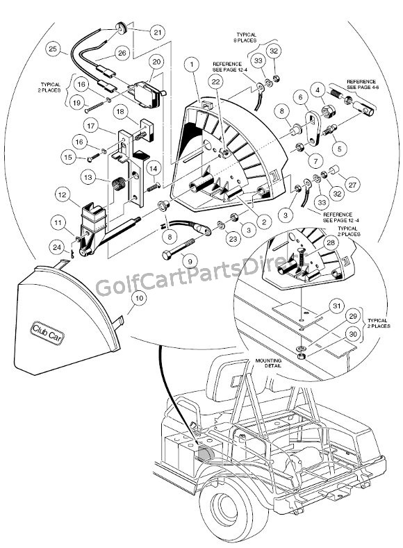 For A Club Car Golf Cart Wiring Diagram For Lights 1997 Club Car Gas Ds Or Electric Golfcartpartsdirect