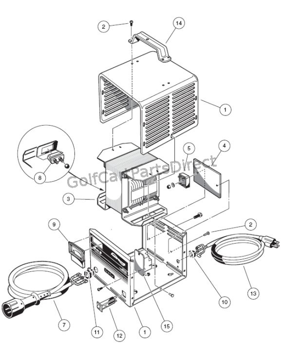 power wiring 48v club car parts accessories