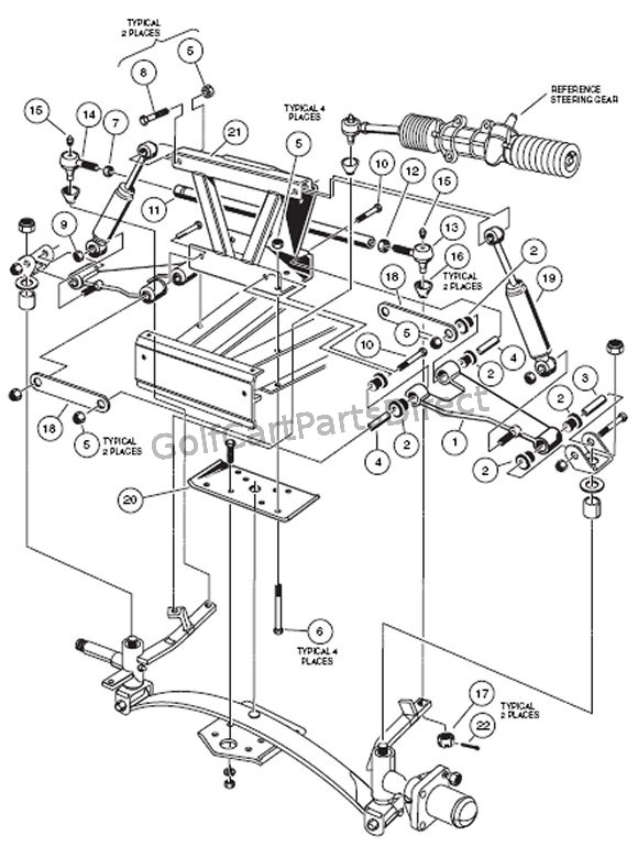 [DIAGRAM] Club Car Golf Cart Front Suspension Diagram FULL