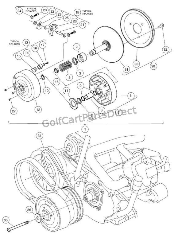 yamaha g9 golf cart clutch diagram  main electrical wiring