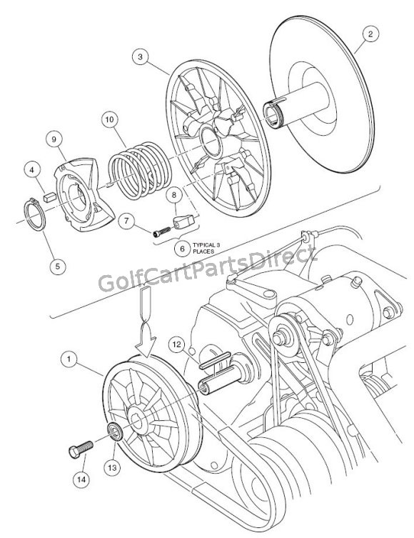 2004-2007 Club Car Precedent Gas or Electric