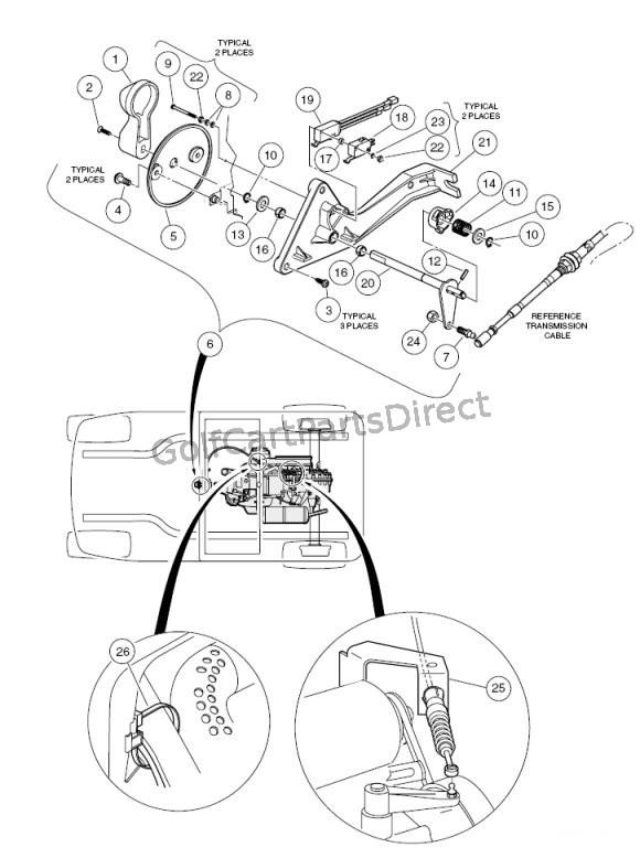 club car golf cart shifter diagram