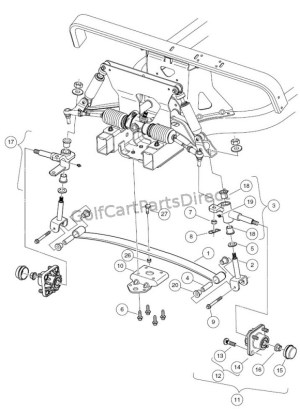 Front Suspension  Lower  Club Car parts & accessories