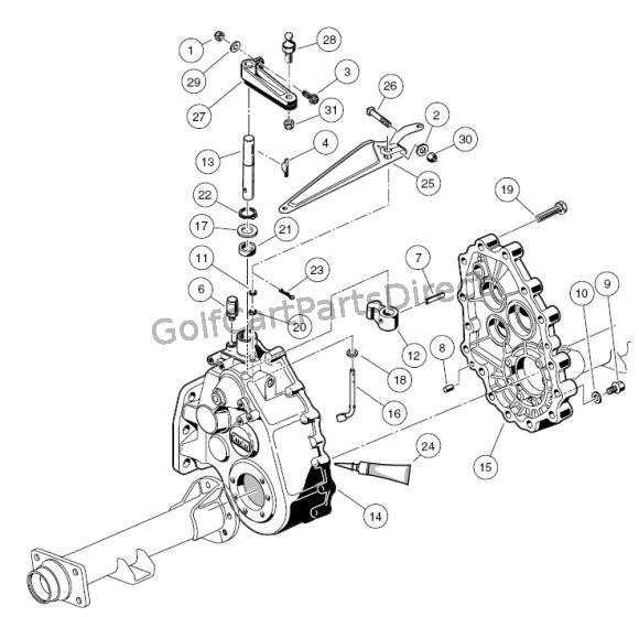 94 Club Car Golf Cart Wiring Diagram Unintized Transaxle Gear Cases Brackets