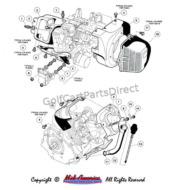 1996 club car engine diagram