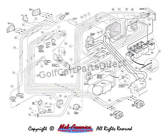 Wiring Diagram For Golf Cart Lights: Ez go golf cart