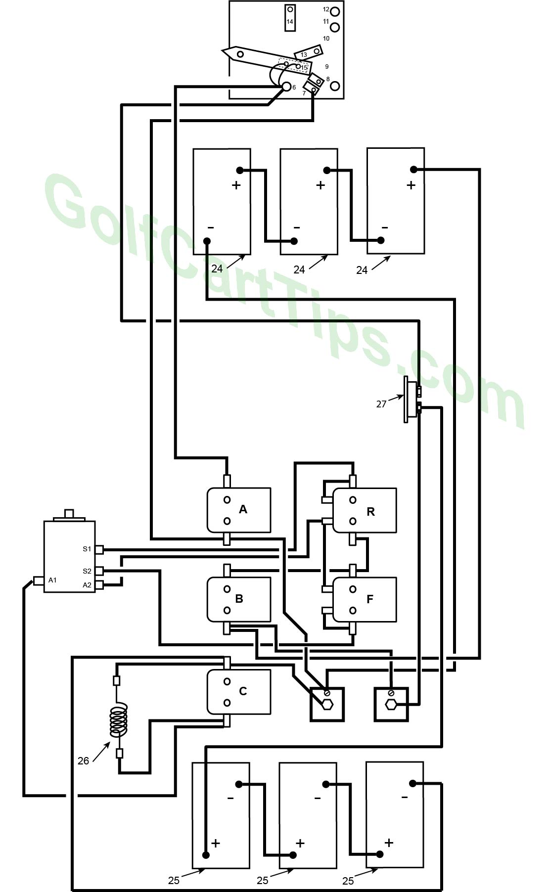 hight resolution of 1967 70 model de heavy cable diagram harley davidson golf cart