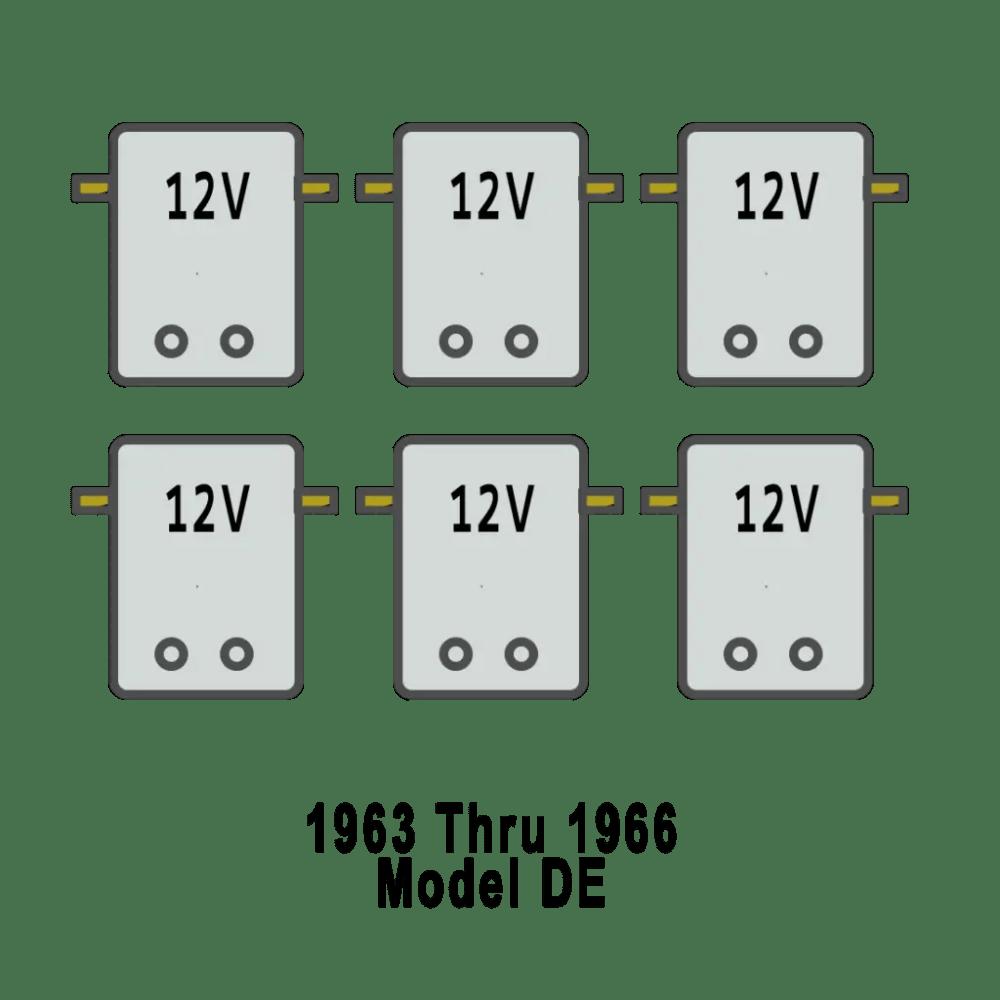 medium resolution of solenoid arrangement for harley davidson golf cart de 1966 68