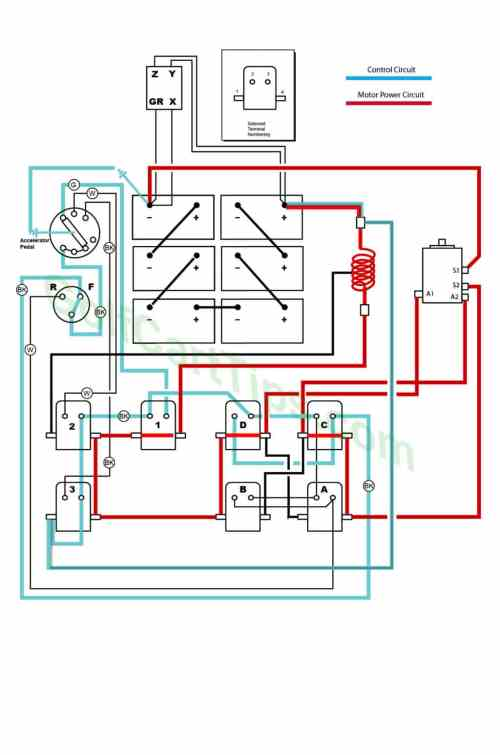 small resolution of  ezgo wiring diagrams model 300 late 1950 s on 36v golf cart wiring diagram