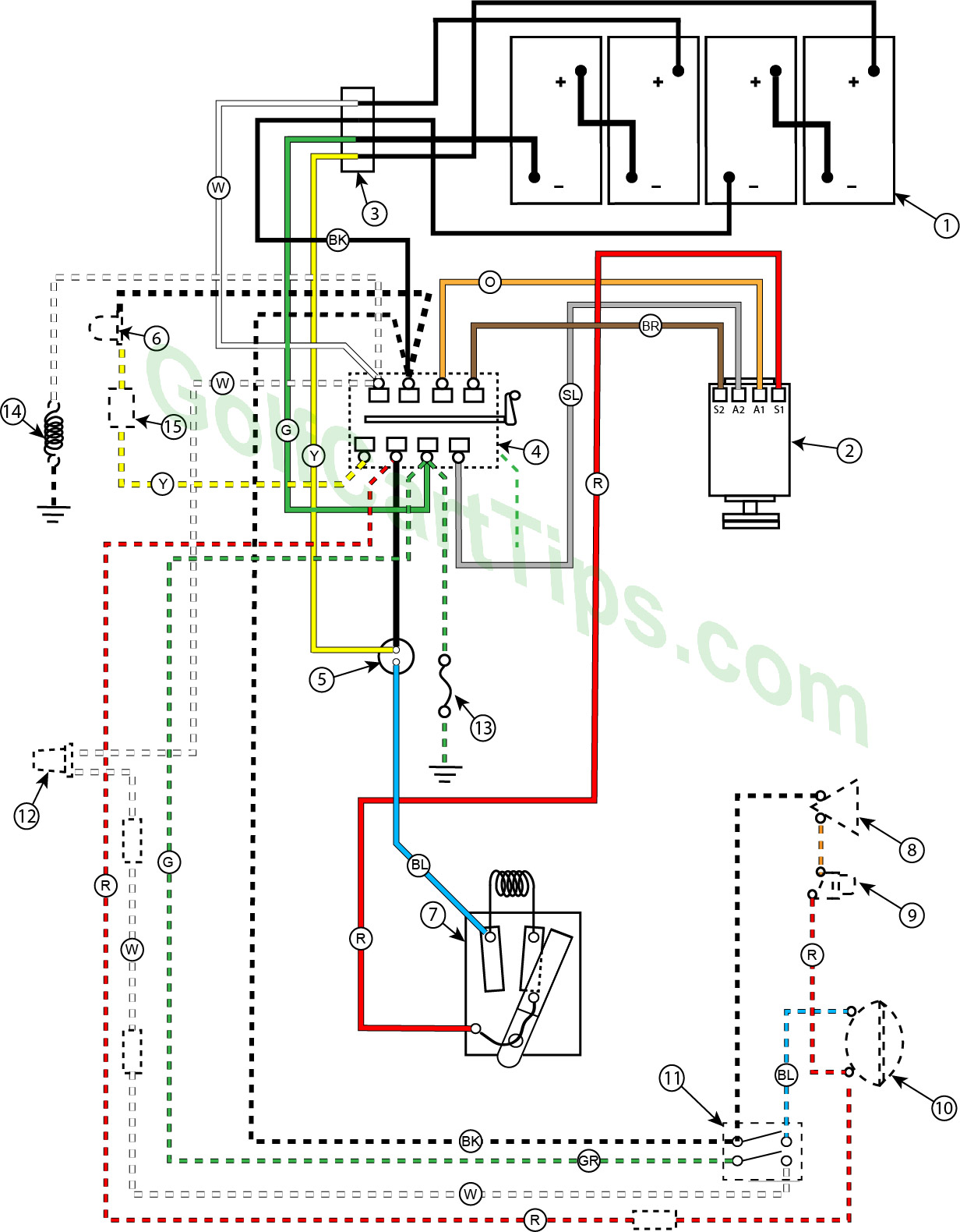 hight resolution of troubleshooting cushman golfsters 1954 58 wiring diagrams re wiring problem on my cushman source cushman electric golf cart