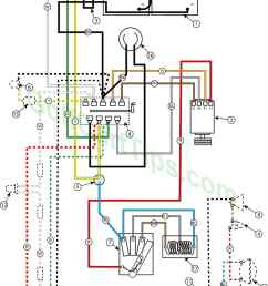 wiring diagram for 1957 model 732 42 24v golfster and 731 44 24v industrial [ 1024 x 1400 Pixel ]