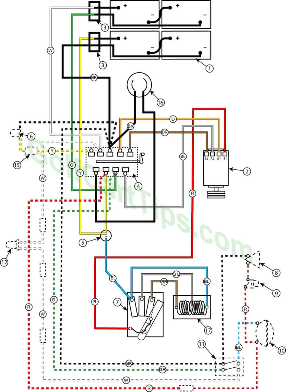 medium resolution of wiring diagram for 1957 model 732 42 24v golfster and 731 44 24v industrial