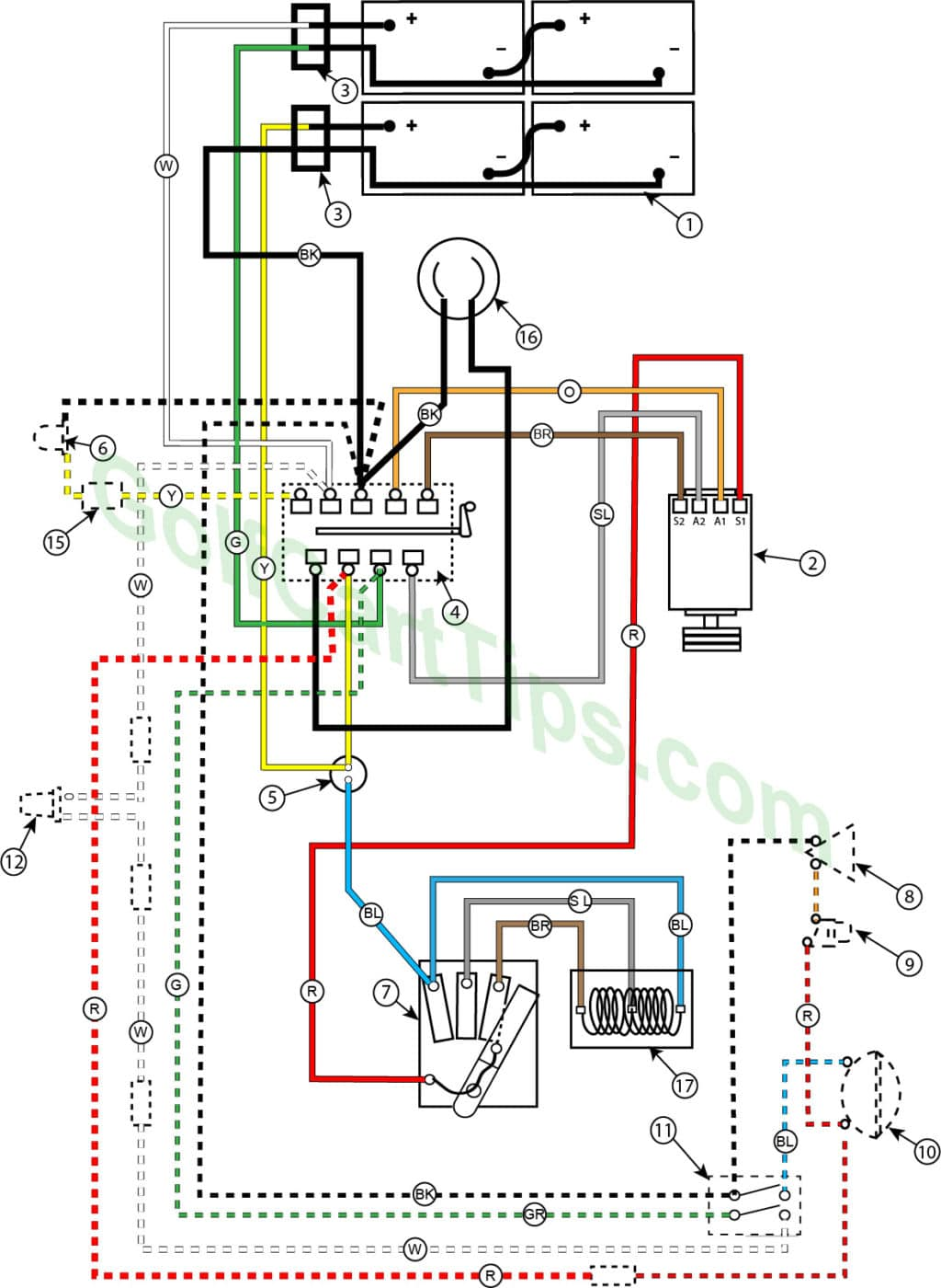 hight resolution of wiring diagram for 1957 model 732 42 24v golfster and 731 44 24v industrial