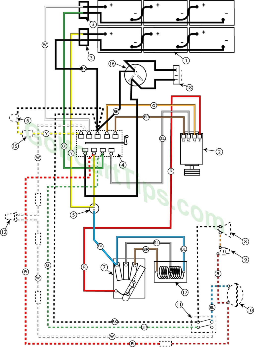 hight resolution of wiring diagram for 1958 model 732 74 36v golfster and 732 72 36v industrial