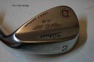 Counterfeit Titleist Vokey Spin Milled 2009 Wedge
