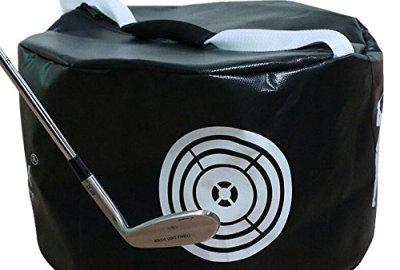 51IhW02GeZL - Amazingli Golf Impact Power Smash Bag Hitting Bag Swing Training Aids Waterproof Durable (Black)