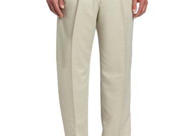 31J2rnNk46L - Haggar Men's Cool 18 Hidden Expandable-Waist Pleat-Front Pant