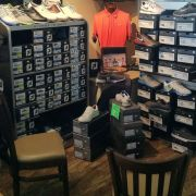 Selection of Shoes includes: Nike, Foot Joy, Ecco, and Callaway