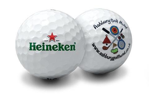 Golfbolde med logo i fuldfarvet tryk