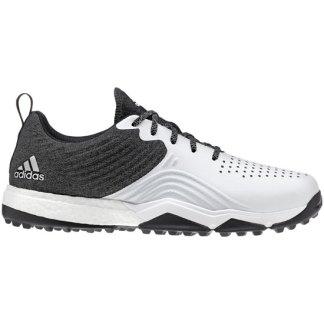 ADIDAS 2018 Adipower S4 Golf Shoes - Black/White/Silver