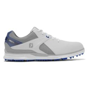 FootJoy Mens Pro SL 2020 Golf Shoe - White/Grey/Blue