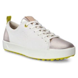 Ecco 2020 Womens Golf Soft Golf Shoes - White/Dritton